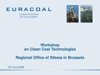 Workshop on Clean Coal Technologies  Regional Office of Silesia in Brussels