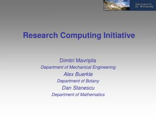 Research Computing Initiative