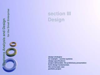 design strategies for example – sunrise systems design specifications project deliverable: the preliminary presentation