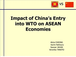 Impact of China s Entry into WTO on ASEAN Economies