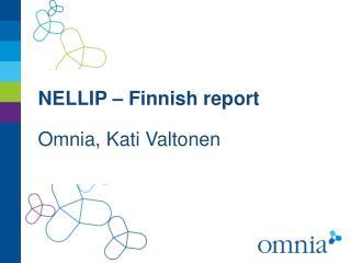 NELLIP – Finnish report
