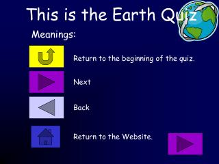 This is the Earth Quiz