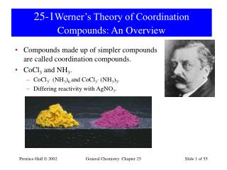 25-1 Werner's Theory of Coordination Compounds: An Overview