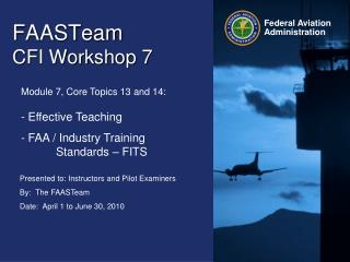 FAASTeam   CFI Workshop 7