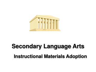 Secondary Language Arts