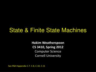 State & Finite State Machines