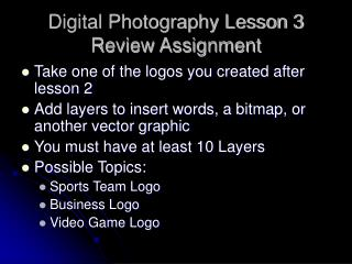 Digital Photography Lesson 3 Review Assignment