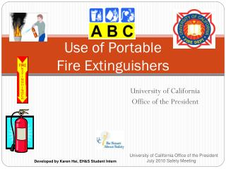 Use of Portable  Fire Extinguishers