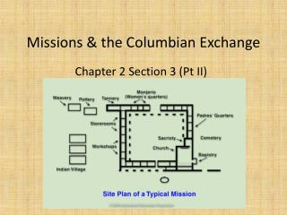 Missions & the Columbian Exchange