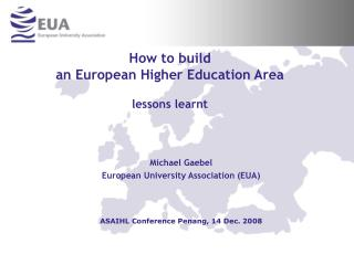 How to build  an European Higher Education Area  lessons learnt