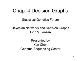 Chap. 4 Decision Graphs