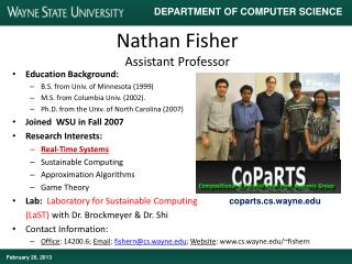 Nathan Fisher Assistant Professor