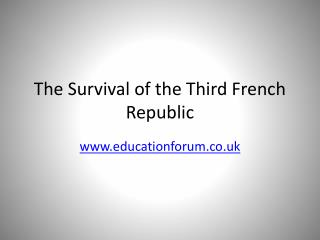 The Survival of the Third French Republic