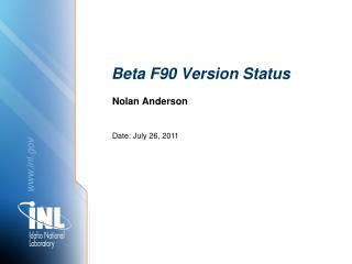 Beta F90 Version Status
