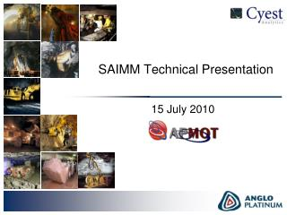 SAIMM Technical Presentation