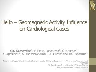 Helio – Geomagnetic Activity Influence on Cardiological Cases
