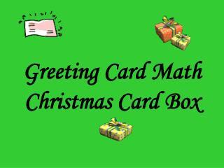 Greeting Card Math Christmas Card Box