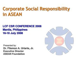 Corporate Social Responsibility  in ASEAN