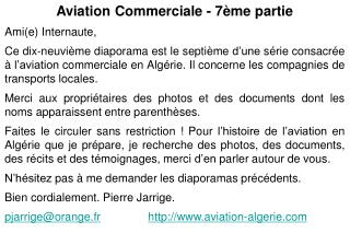 Aviation Commerciale - 7ème partie Ami(e) Internaute,