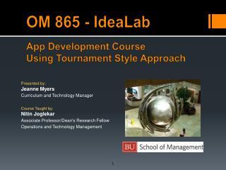 OM 865 - IdeaLab