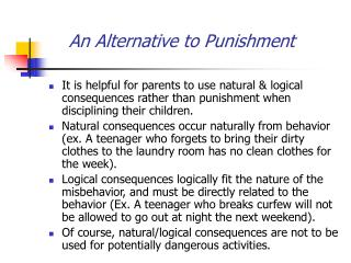 An Alternative to Punishment