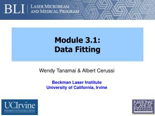 Module 3.1: Data Fitting