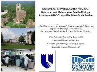 Comprehensive Profiling of the Proteome,  Lipidome , and  Metabolome  Enabled Using a Prototype UPLC-Compatible Microflu