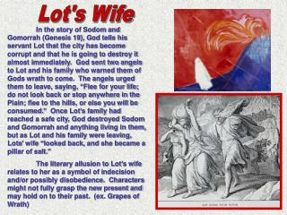 Lot's Wife