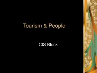 Tourism & People