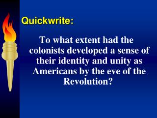 Quickwrite: