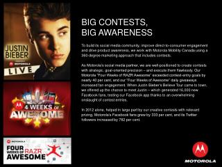 BIG CONTESTS,  BIG AWARENESS