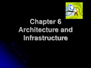 Chapter 6 Architecture and Infrastructure