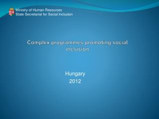 Complex programmes promoting social inclusion
