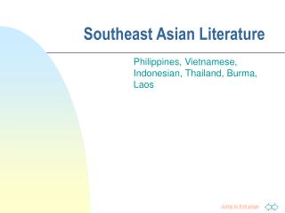 Southeast Asian Literature