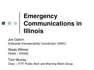 Emergency Communications in Illinois