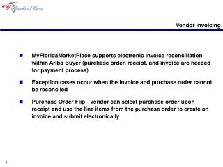 Vendor Invoicing