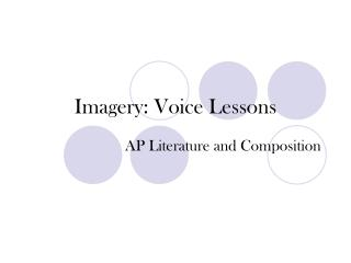 Imagery: Voice Lessons