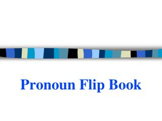Pronoun Flip Book