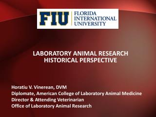 Laboratory Animal  Research  Historical  Perspective