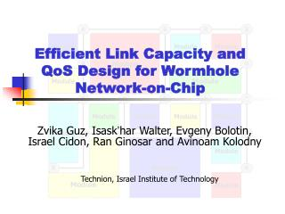 Efficient Link Capacity and QoS Design for Wormhole Network-on-Chip
