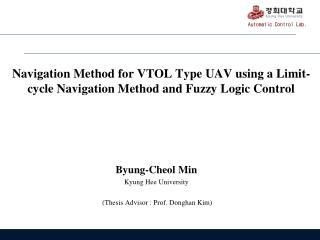 Navigation  Method for VTOL Type UAV using a Limit-cycle Navigation Method and Fuzzy Logic Control
