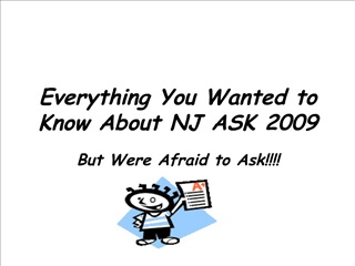 Everything You Wanted to Know About NJ ASK 2009
