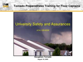 Tornado Preparedness Training for Floor Captains