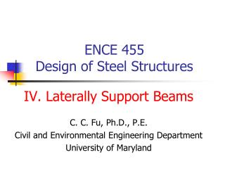 ENCE 455  Design of Steel Structures