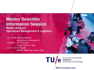 Mentor Selection Information Session