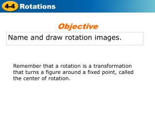 Name and draw rotation images.