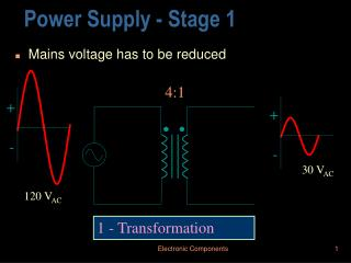 Power Supply - Stage 1