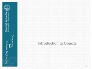 Introduction to Objects