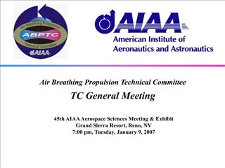Air Breathing Propulsion Technical Committee TC General Meeting