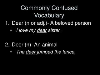 Commonly Confused Vocabulary